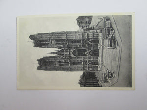 Vintage Post Card Brussels Collegiate of S S Michael and Gudule - The Front