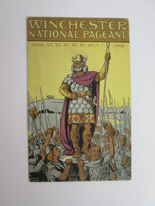 Vintage Post Card Winchester National Pageant 1908