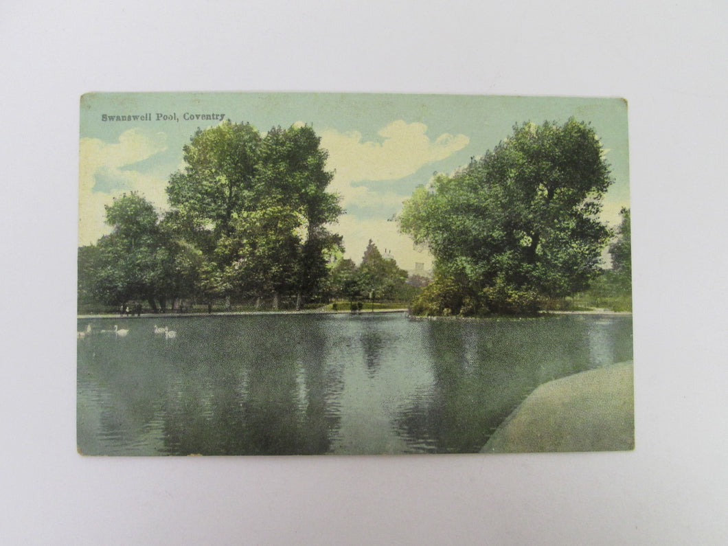 Vintage Post Card Swanswell Pool Coventry