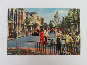 Vintage Disney Post Card 1970s Main Street USA