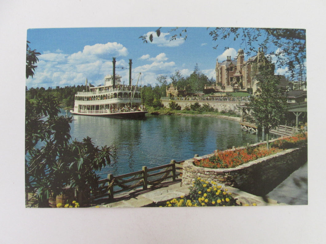 Vintage Disney Post Card 1970s Cruising The Rivers of America