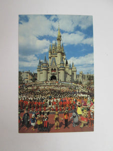 Vintage Disney Post Card 1970s Welcome To Walt Disney World