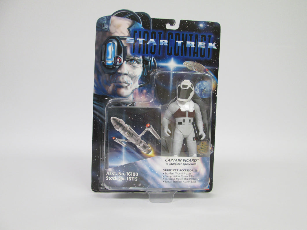 Star Trek First Contact Captain Picard in Starfleet Spacesuit Action Figure (Playmates)(1996)