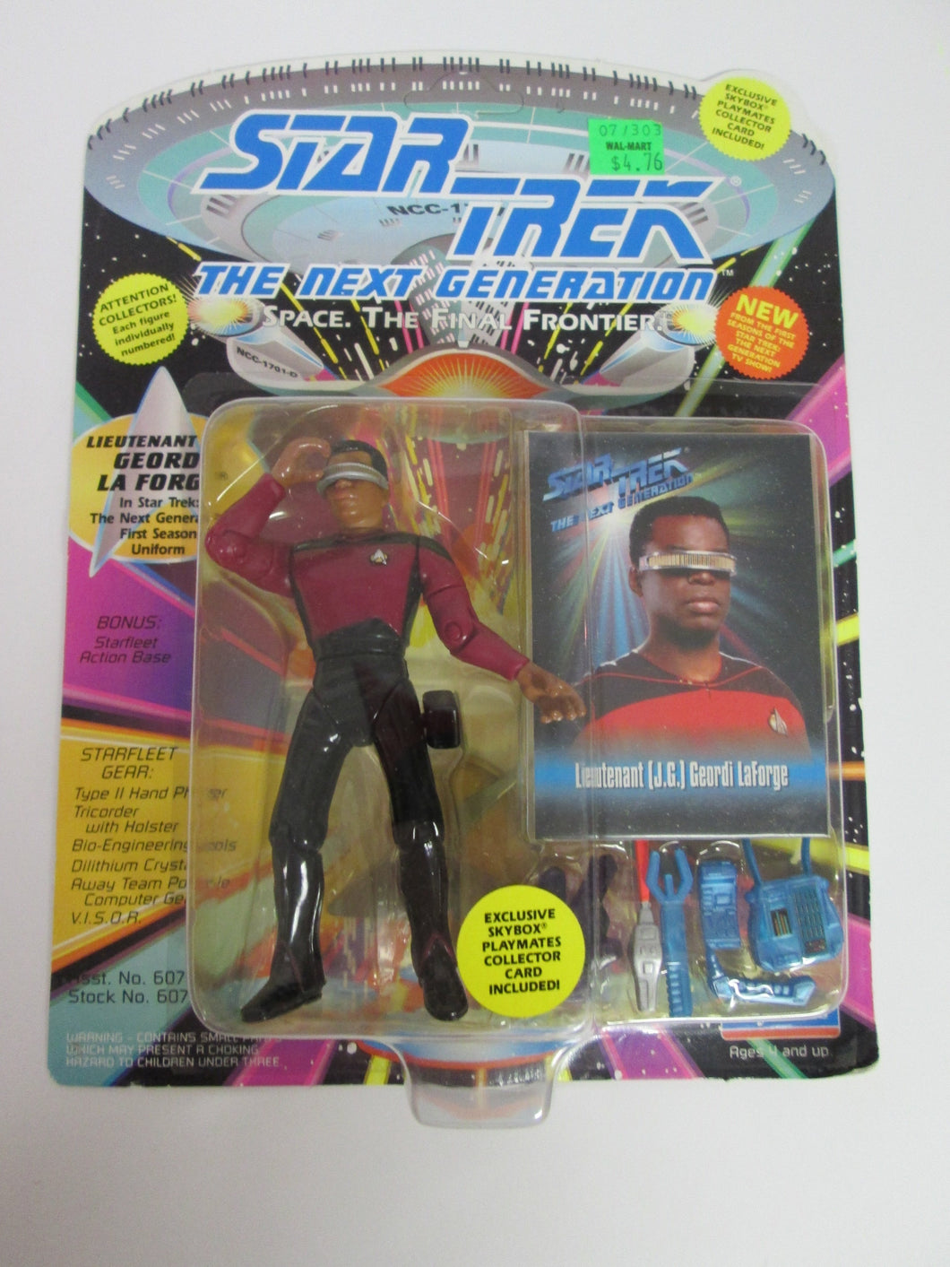 Star Trek TNG Lieutenant Commander Geordi La Forge First Season Uniform Action Figure