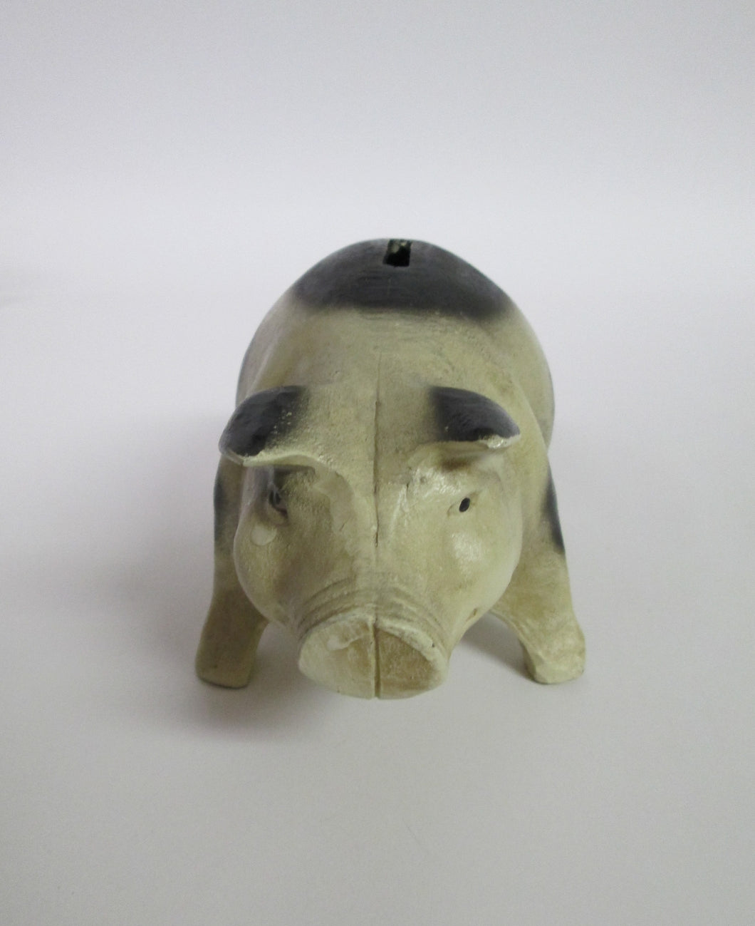 Cast Iron Piggy Bank with Rubber Stopper