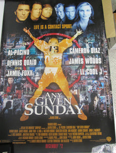Any Given Sunday Movie Poster with torn edge
