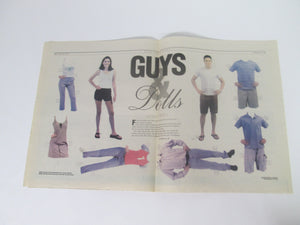 Guys & Dolls Paper Dolls from Back to School section of 2000 News Herald rare