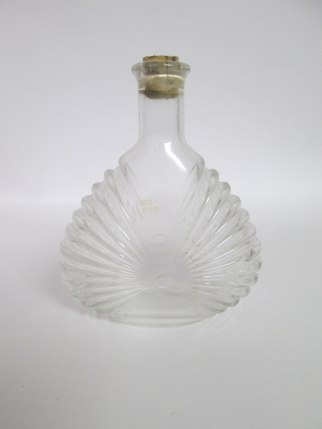 Shell Fan Shaped Glass Bottle with cork