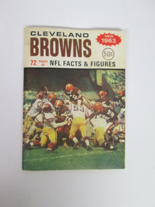 Cleveland Browns 72 Pages of NFL Facts 1963