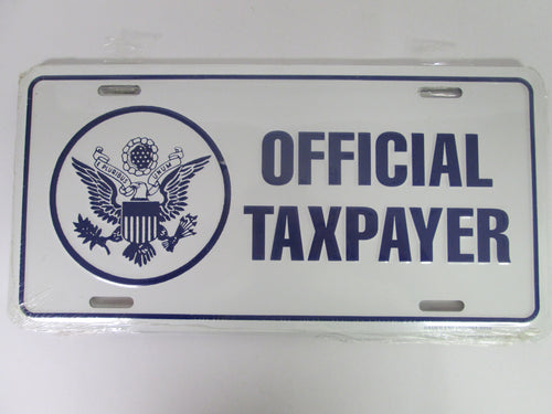 Official Taxpayer License Plate