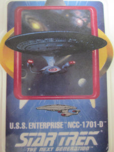 Star Trek The Next Generation U.S.S. Enterprise NCC-1701-D Collector Ceramic Card Plate (1992)