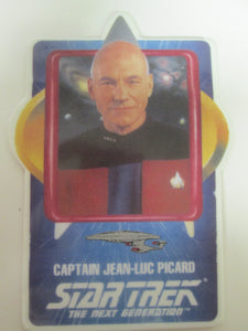 Star Trek The Next Generation Captain Jean-Luc Picard Collector Ceramic Card Plate (1992)