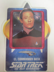 Star Trek The Next Generation Lt. Commander Data Collector Ceramic Card Plate (1992)