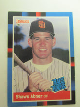 1988 Donruss Rated Rookie Baseball Card #33 Shawn Abner