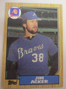 1987 Topps Tiffany Atlanta Braves Baseball Card #407 Jim Acker