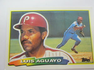 1988 Topps Philadelphia Phillies Baseball Card #226 Luis Aguayo