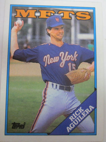 1988 Topps New York Mets Baseball Card #434 Rick Aguilera