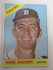 1966 Topps Detroit Tigers Baseball Card #113 Hank Aguirre