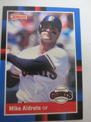 1988 Donruss San Francisco Giants Baseball Card #362 Mike Aldrete