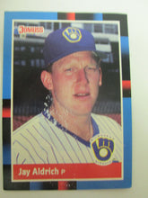 1988 Donruss Milwaukee Brewers Baseball Card #460 Jay Aldrich