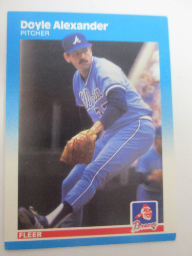 1987 Fleer Atlanta Braves Baseball Card #510 Doyle Alexander