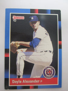 1988 Donruss Detroit Tigers Baseball Card #584 Doyle Alexander