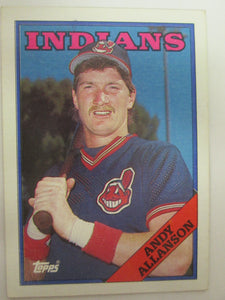 1988 Topps Cleveland Indians Baseball Card #728 Andy Allanson
