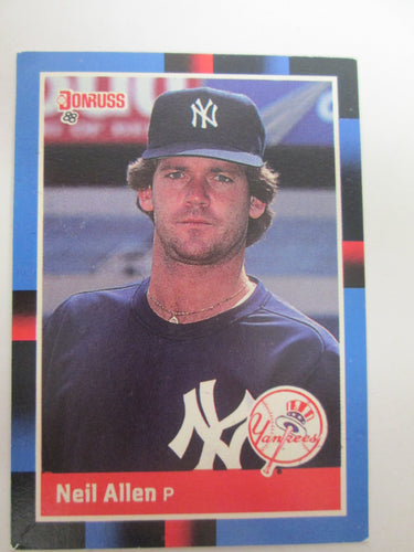 1988 Donruss New York Yankees Baseball Card #597 Neil Allen