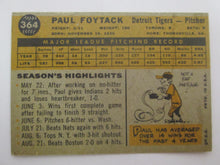 1960 Topps Detroit Tigers Baseball Card # 364 Paul Foytack