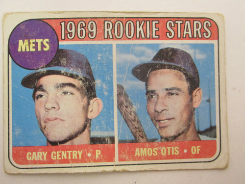 1969 Topps Rookie Stars New York Mets Gary Gentry/Amos Otis Baseball Card #31