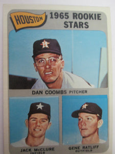 1965 Topps  Houston Astros 1965 Rookie Stars Coombs/McClure/Ratliff Baseball Card #553