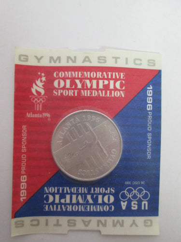 1996 Atlanta Commemorative Olympic Gymnastics Sport Medallion