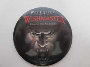 Wes Craven Presents WISHMASTER Promo Pin back Button