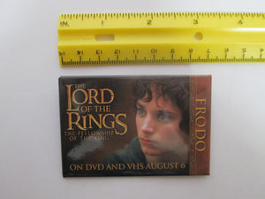 2001 The Lord of the Rings The Fellowship of the Ring On DVD and VHS Pinback Button