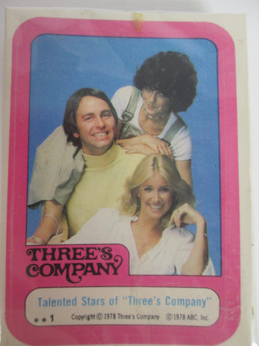 1978 Topps Three's Company Complete Trading Card and Sticker Set of 44
