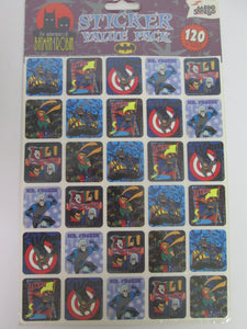 1997 The Adventures of Batman & Robin Sticker Value Pack 120 Stickers