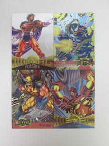 1995 Fleer Marvel Metal Uncut 5x7 Promo Card Sheet