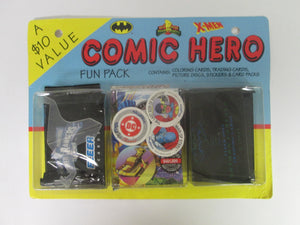 1995 Comic Hero Fun Pack Cards Stickers discs and packs of Trading cards