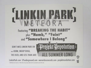 2004 Linkin Park Meteora Promo Sticker Card Projekt Revolution