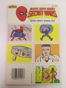 Marvel Super Heroes Secret Wars Spider-Man's Stamp Fun PB 1985