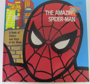 The Amazing Spider-Man A Book of Colors and Days of the Week by Donna Kelly 1977