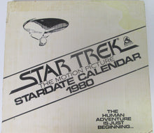 Star Trek The Motion Picture Stardate Calendar 1980 in Original Shipping Box