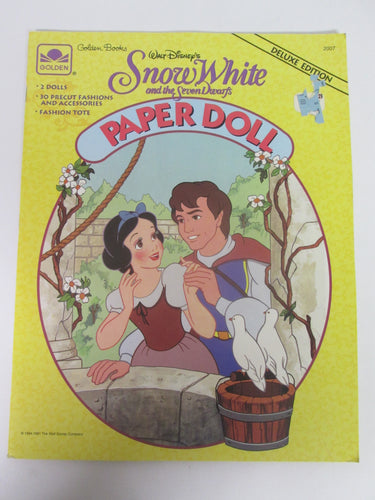 Snow White and the Seven Dwarfs Paper Doll 1994