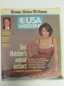 USA Weekend Teri Hatcher Cover from Rome News Tribune December 1997