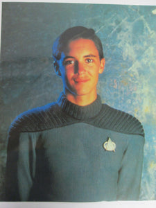 Wesley Crusher Star Trek The Next Generation 8x10 Color Postcard 1992