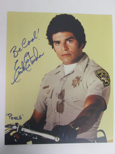 "Erik Estrada ""Ponch"" Chips Signed Color Photo"