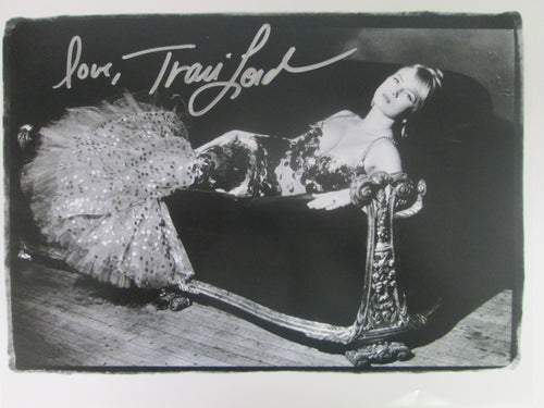 Traci Lord Signed B&W Photo