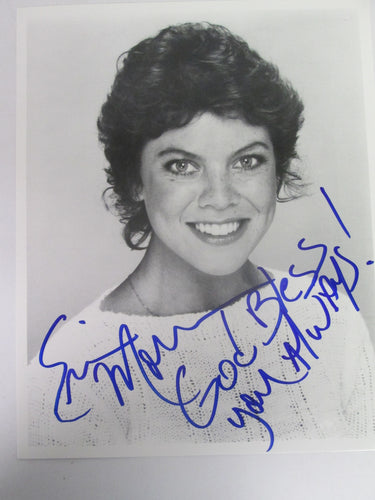 Erin Moran Signed B&W Photo - Happy Days