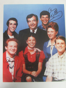 Happy Days Signed Color Cast Photo by Donny Most &  Anson Williams (Ralph & Potsie)