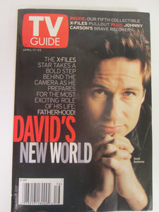 TV Guide David Duchovny Cover April 17-23 1999